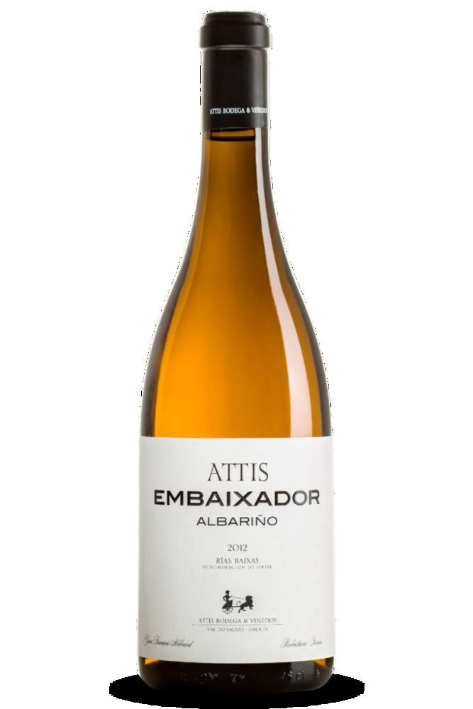 Attis Embaixador, D.O. Rías Baixas, de la subzona Val do Salnés. 100% Albariño.
