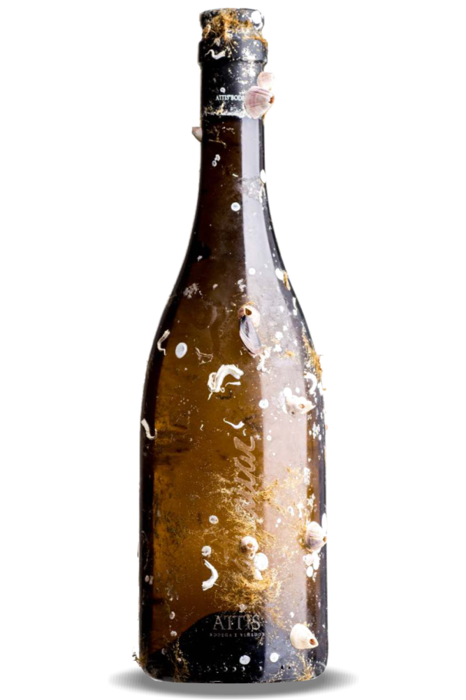 Albariño Attis mecido por el mar durante 6 meses. D.O. Rías Baixas, de la subzona Val do Salnés