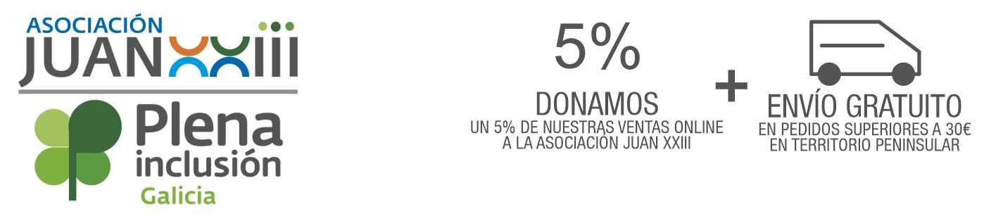 5% DONACIÓN a la Asociación Juan XXIII